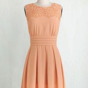 Esley Peach Dress Size 1XL Knee Length